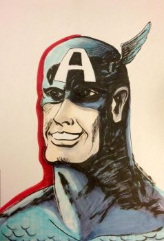 Captain America - Jack Kirby style by Horological-Rex