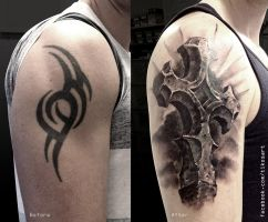 Cover-up with a cross by tikos
