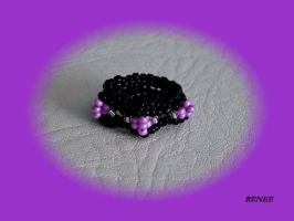 Black and pink ring by jasmin7
