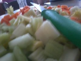 veggies and knife by haileysthelimit