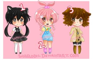 Chibi Adoptables CLOSED by SaMelodii