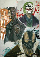 Harvey, Joker, Bane by Ultrafpc