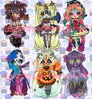 HALLOW'S EVE ADOPTABLE AUCTION | LAST DAY by Lolisoup