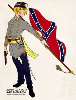Confederate Alfred _coloured_ by Lady-Ignis-Chan
