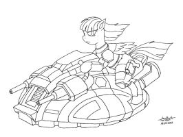 Hover Pony V2 Lineart by IronHawk711