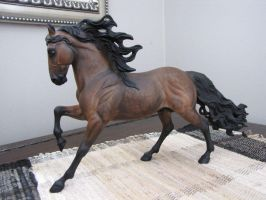 Breyer Pastelled Dapple Bay Andalusian by PrincessXena1027