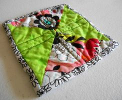 Green Hourglass Hot Pad by ChaosFay