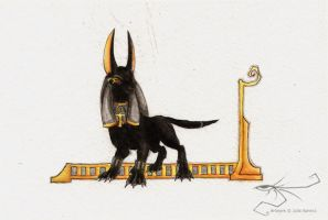 Cute Anubis by kaizerin
