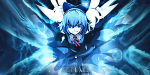 Cirno Smudge Siggy. by FlyingGinger