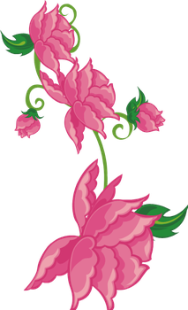hot pink flower 3 by MaxandPercy4ever