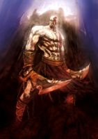 Kratos at Olympus by slaine69