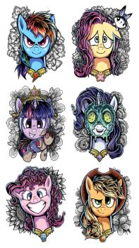 My Little Pony: Elements of Harmony Designs by Ziom05