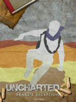 Uncharted 3: Drake's Deception Retro Poster by LTRees