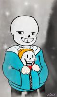 Home Grown: Sans and Papyrus by PurpleCarnation76
