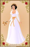 Snow White wedding gown by monsterhighlover3