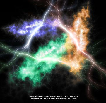 Tri-Colored Lightning by BlackStock