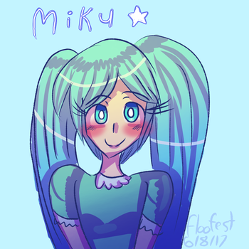 Cute Miku by floofest