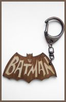 BATMAN - wood keyring by Piciuu