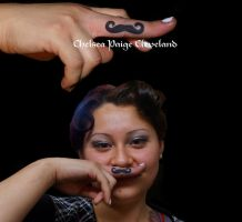 Mustache - Tattoo by Chelsea Cleveland by SmilinPirateTattoo