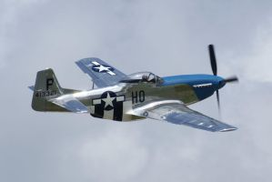 P-51D Cripes does a pass by Valder137