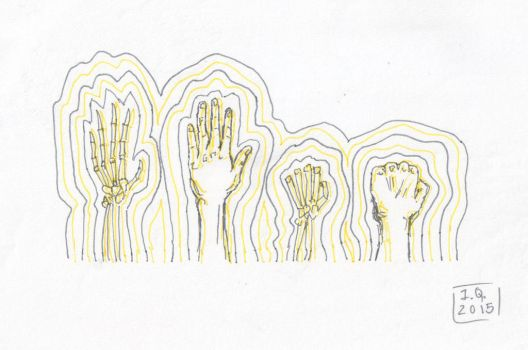 Hands doodle by allyfromearth