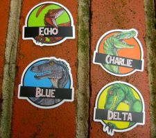 Raptor Stickers Available! by TheCrochetDragon