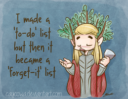 Hobbit LotR - Thranduil To-Do List by caycowa