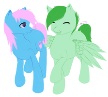 REQUEST: Mallow Sweetie and Greenie Emerald by EmilieArts