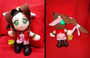 Aerith FFVII plush version by Momoiro-Botan