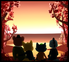 A Lovely Evening In Te WOOODS by NigthmareWolf