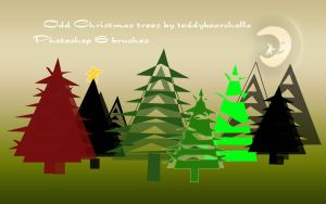 Odd Christmas trees by teddybearcholla