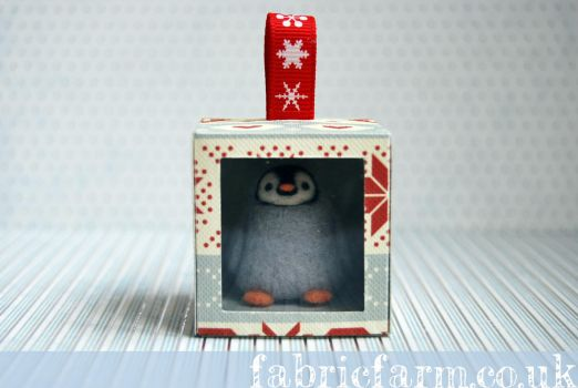 Penguin in Gift Box by fabricfarm