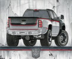 Chevy Silverado 3500 - Rear by SeawolfPaul