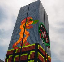 52-Story Samus Aran and Metroid! by J-Skipper