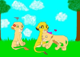 Simba and Cassie .:Request:. by Pokemonluvergirl2