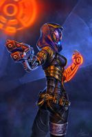 Tali Zorah Vas Normandy by Asgerd-art