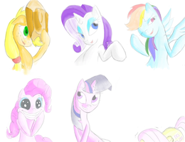 Pony expressions by Facelessguru