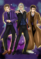 Doctor who - 10, 11 and 12 by ImmortalBerry