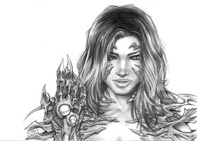 Realistic Witchblade pencils by channandeller