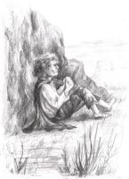 Frodo in Emyn Muil by AlasseaEarello