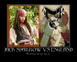 Jack Sparrow Vs England by Bellamckinney
