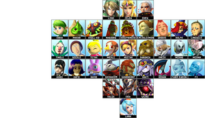 Hyrule Warriors Roster by follyoftheforbidden