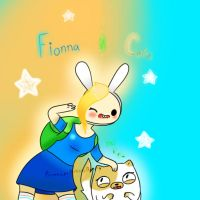 Fionna and Cake by PrincessBubbleBunny