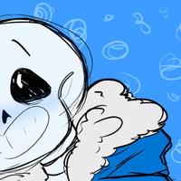 sans head bonk colored by fevuduriSan
