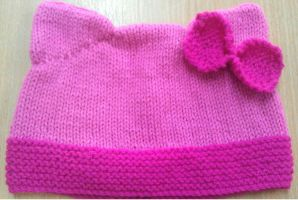 Very Pink Cat Hat by Stitch-Happy
