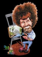 Bob Ross Tribute by BM-Illustrations