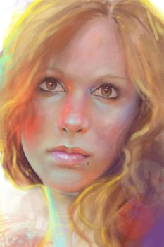Painted selfportrait by MartaNael