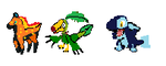 Starters Sprites by OverpoweredClefairy