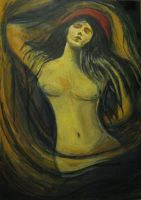 """Homage to E.Munch - Madonna"" by tatopainting"