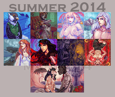 SUMMER 2014 COMMISSIONS by lanternlovers